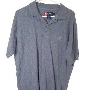 Ralph Lauren Chaps blue polo shirt cotton large
